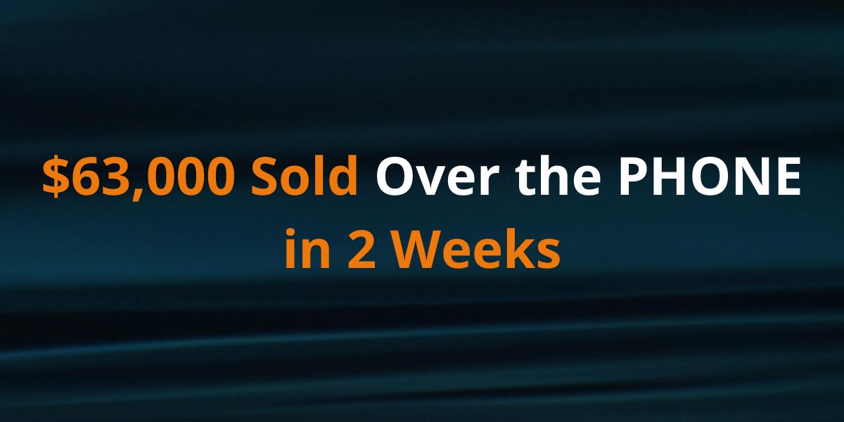 63k sold in 2 weeks